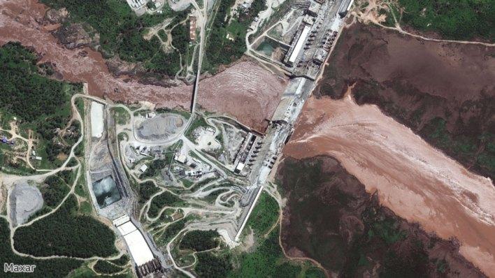 صورة فضائية لنهر النيل في شمال غربي أثيوبيا في 26 يونيو