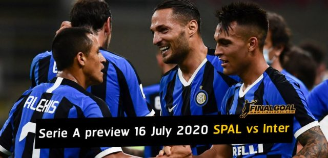 Italian Serie A match preview 16 July 2020 SPAL vs Inter