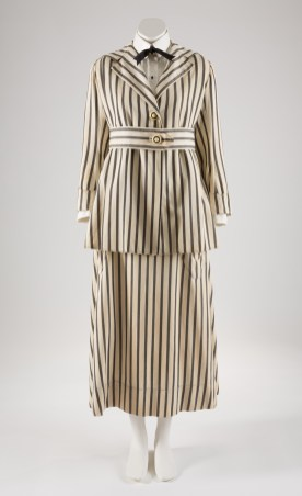 Walking suit, striped denim, circa 1915, USA, museum purchase. Photograph courtesy The Museum at FIT.