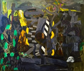 Canto III, oil on canvas, 72 x 84 inches, 2016.