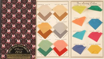 "The Textile Color Card Association of the United States, ""Woolen color card,"" spring 1952."