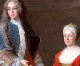 Alexis Simon Belle, Élisabeth-Charlotte d'Orléans & François-Étienne, 1722.
