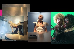 triptych of stills from Hustlers & Empires