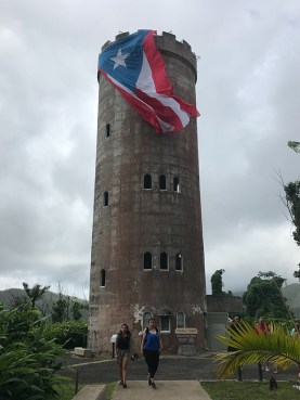 Yokahú Tower in El Yunque National Forest, which Navarro saw while exploring the island on free days.
