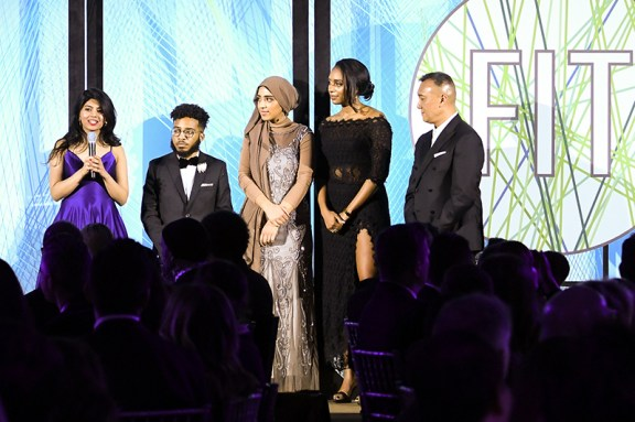 Student presenters Ishani Shah, Marty Sullivan, Zainab Koli, Kiana Brooks, with Joe Zee. (Photo: BFA for FIT)