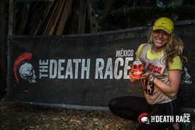 After completing a race in Mexico.