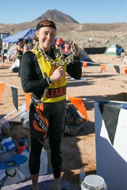 Bishop after winning the title of top female competitor in the 2016 World's Toughest Mudder.