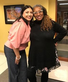 Adjunct Assistant Professor Elena Romero and co-director Lisa Cortés.