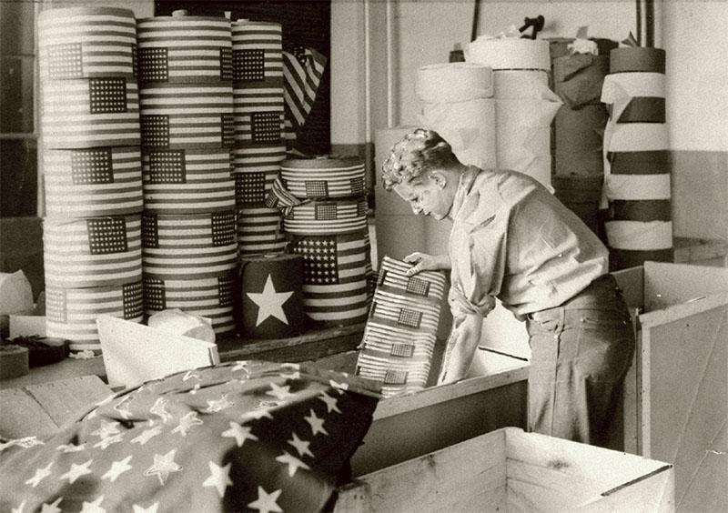 An Annin Flagmakers worker circa 1930.