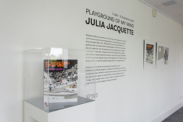 Gallery view with Jacquette's book and wall text