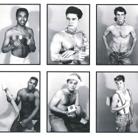 """In 1989, a jaw-dropping feature, """"Bodily Treasures,"""" showed the shirtless male undergrads who appeared in a calendar, FIT Guys '89-90, which sold as a fundraiser for students in the American Advertising Federation. The editors wrote, """"Who ever said that women are the only ones exploited!"""" File under: That Wouldn't Happen Now."""