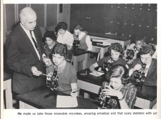 FIT relocated to its first building on 27th Street in 1959. Many yearbook captions alluded to the move.