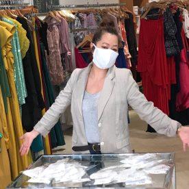 Chloe Dao presenting face masks