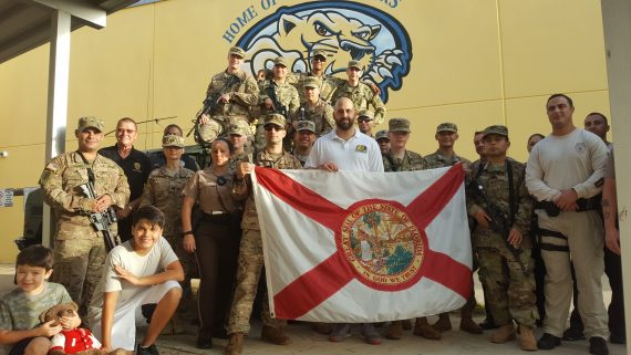 Alumnus John Galardi, principal of South Dade Middle School, worked with custodians, staff and national guardsmen to shelter 2,500 people during Hurricane Irma.