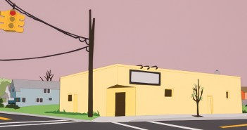 """""""The wind was out of the west at 20 m.p.h."""" 2014, a collage by Casey Ruble, part of her series of works titled """"Everything That Rises"""""""