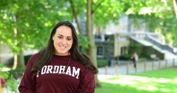 Morgan Vazquez, FCRH '13, at Homecoming 2016