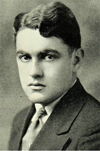 """Joseph Stephen Murphy, Fordham College Class of 1929. """"His is the rare gift of supplying laughter for all, pain for none,"""" the 1929 Maroon yearbook editors wrote."""