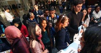Latino Students at Fordham's College Fair