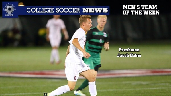 Jacob Bohm Named to the College Soccer News Team of the Week