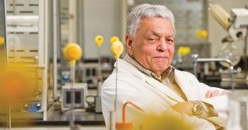 Professor Donald Clarke in his bio lab