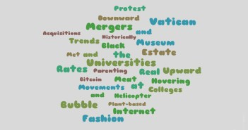 Word Cloud of topics for 2018