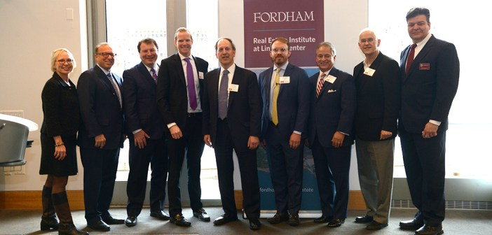 The event was hosted by the Fordham Real Estate Institute and the Real Estate Services Alliance.