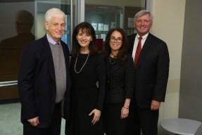 (L-R) Mario Gabelli, GSB '65; Regina Pitaro, FCRH '76; Donna Rapaccioli, Ph.D., dean of the Gabelli School of Business; and Brian C. Rogers, non-executive chairman of T. Rowe Price.