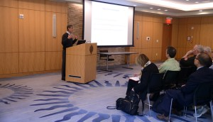 Mark Ravizza, S.J., presented a new partnership to Fordham faculty and administration on May 8 at the Rose Hill campus.