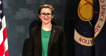 Bernadette Haig, a 2018 Fordham graduate interning at NASA following graduation