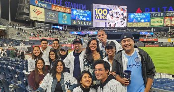 Alumni and other members of the Fordham Family attended Fordham Night at Yankee Stadium on Thursday, September 19. The Yankees clinched the AL East with their win that night.