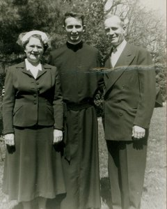 Father O'Hare with his mother and father