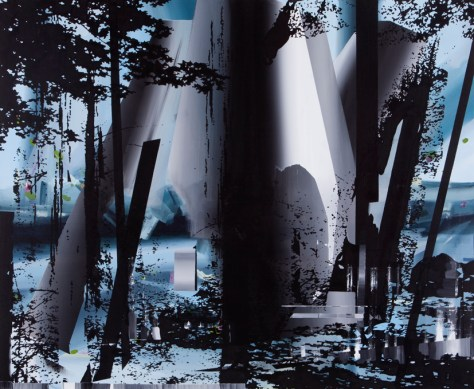 Nightschift in forest - Peter Cvik - Freshmen's Gallery