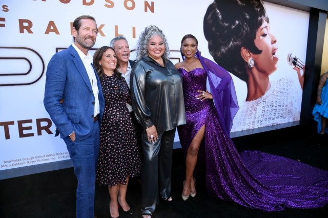 Kevin Ulrich, MGM Board Chairman, Pamela Abdy, Motion Picture Group President, MGM, Michael De Luca, Motion Picture Group Chairman, MGM, Liesl Tommy, Director/Executive Producer, and Jennifer Hudson, Executive Producer/Actor,