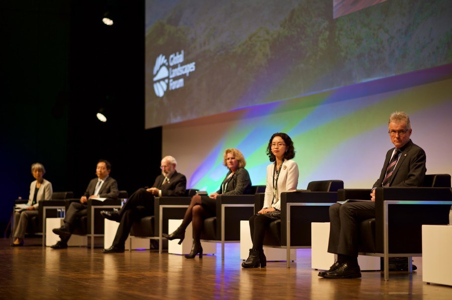 The Global Landscapes Forum, one of several major sustainability-oriented conferences in Bonn. Pilar Valbuena, Global Landscapes Forum