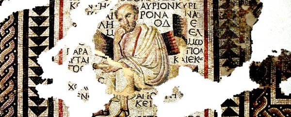 Roman mosaic of a Greek philosopher