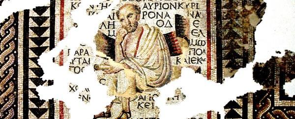 Roman mosaic of a Greek philosopher