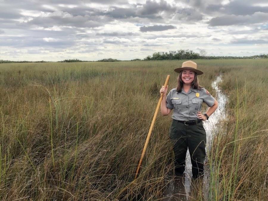 An Everglades park ranger. NPS Photo