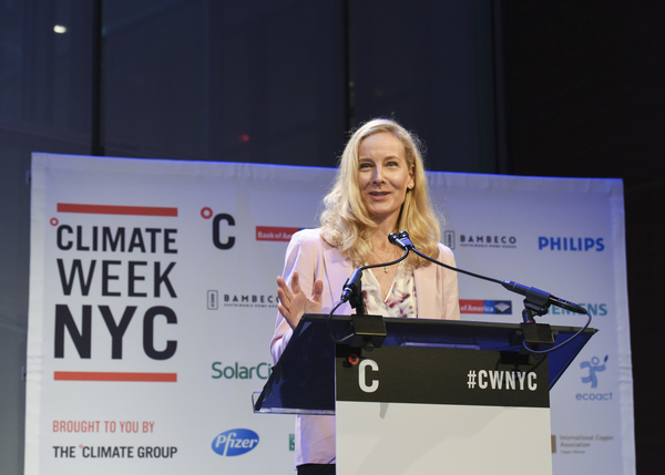 Amy Davidsen, North America executive director of The Climate Group and key leader of 2019's Climate Week NYC. Courtesy of The Climate Group