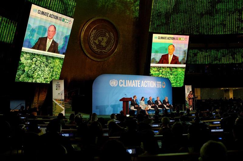 Michael Bloomberg speaks at Climate Week NYC