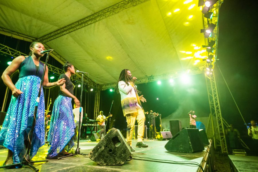 Ghanaian afro-roots star and U.N. Goodwill Ambassador Rocky Dawuni performed at the event. Musah Botchway, Global Landscapes Forum