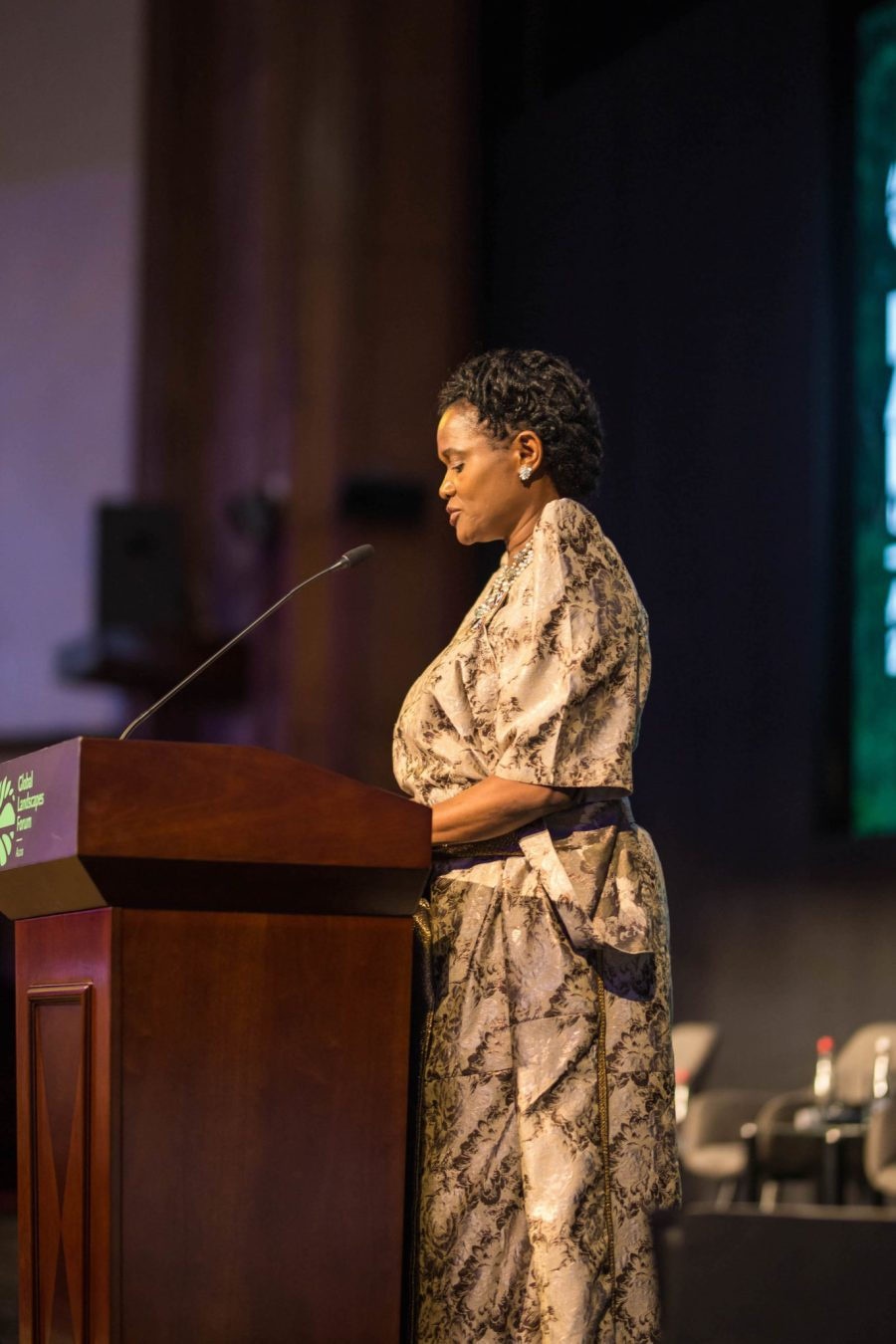 Her royal highness Sylvia Nagginda, the Nnabagereka (Queen) of Buganda, spoke on the importance of culture preservation in restoration. Musah Botchway, Global Landscapes Forum