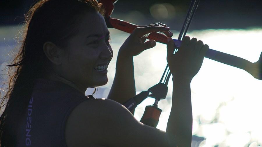 Rosales is regarded as one of Asia's best female kitesurfers. Justin K. Davey