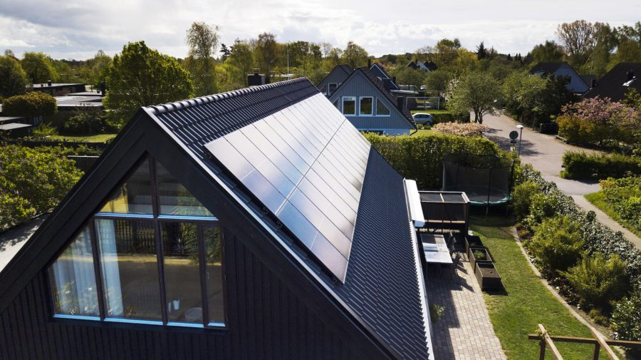 Easy-to-install solar panels can help households cut down on their energy consumption. Courtesy of IKEA