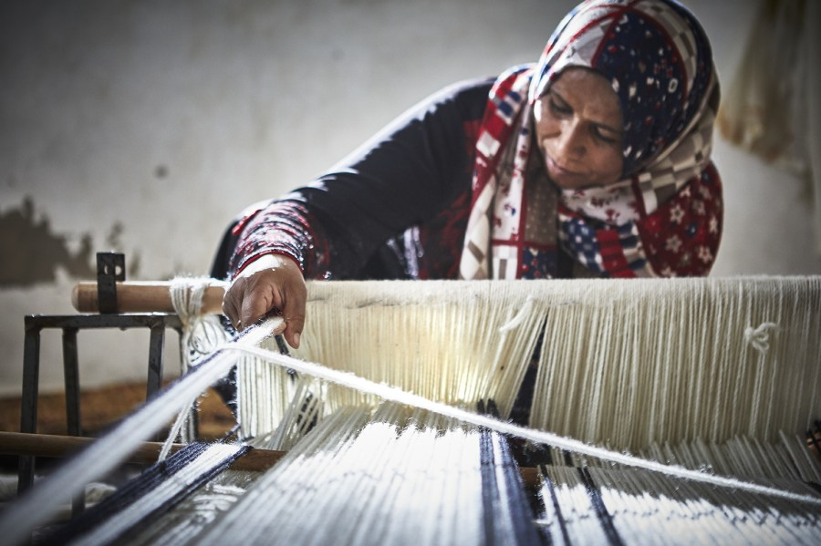 Industries such as weaving are incorporated into the supply chain with fair practices to improve global livelihoods. Courtesy of IKEA