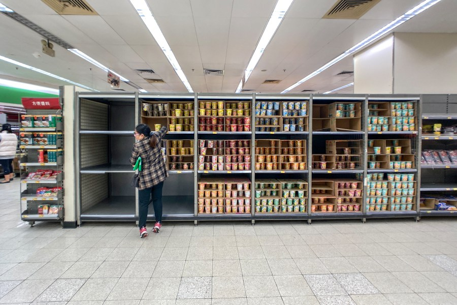 Shelves empty in Hong Kong. Studio Incendo, Flickr