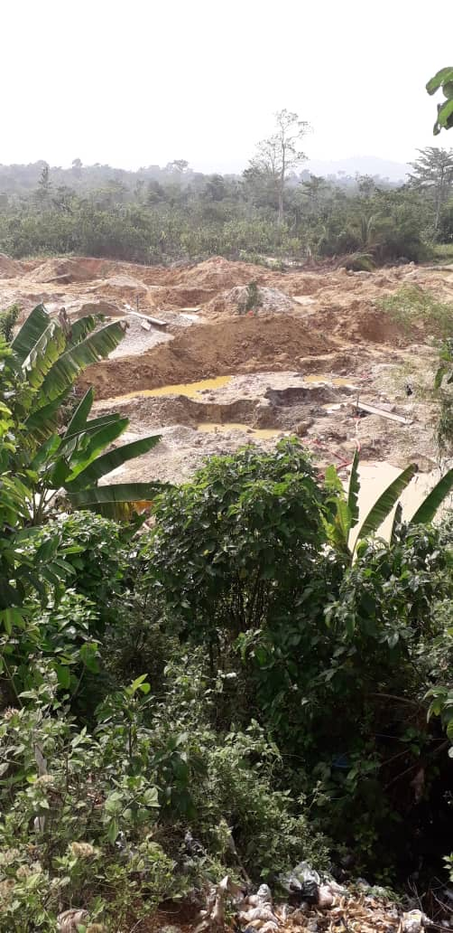 Land degradation in Ghana has been driven by mining and other industrial and development activities. Courtesy of Ghana Cocobod