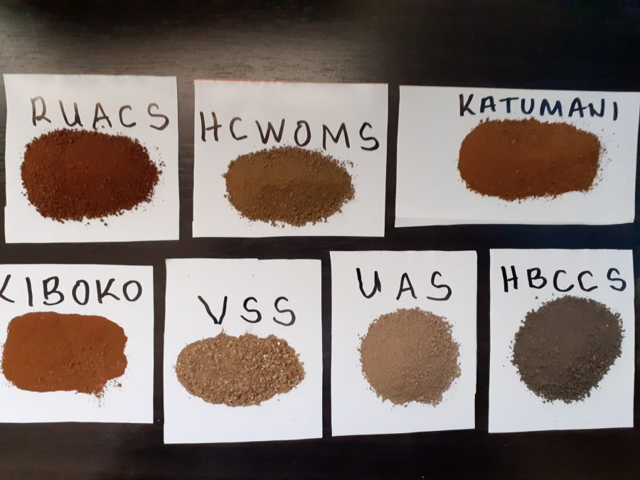 Soil samples submitted for analysis at the Soil Spectra Library. Photo courtesy of Keith Shepherd