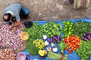 Vegetables sold at a market in Western Bengal exhibit an array of agricultural biodiversity.. Krishnasis Ghosh, Bioversity International
