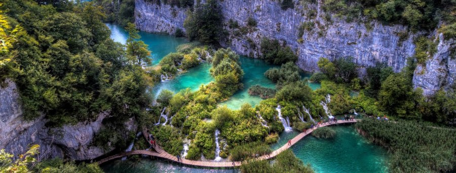 Croatia's Plitvice Lakes, set within a nationally protected forest area with more than 1,400 plant species. Clark and Kim Kays, Flickr