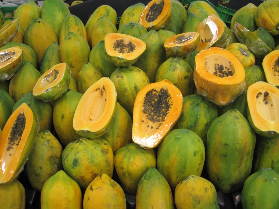 Papaya is a tropical tree food that can produce fruit throughout the year, helping to stabilise farmers' incomes. Luis Tamayo, Flickr